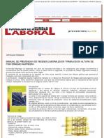 MANUAL DE PREVENCIóN DE RIESGOS LABORALES EN TRABAJOS EN ALTURA DE FRATERNID