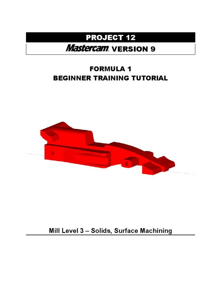 mastercam v9 beginner f1 tutorial computing technology rh scribd com Mastercam Tutorial Mastercam Threading
