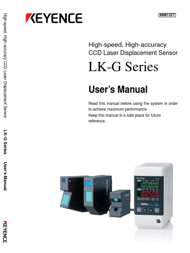 LK-G32 User Manual | Electrical Connector | Laser on