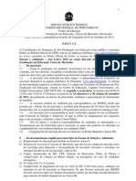 Edital Mestrado PPGEdu-2012
