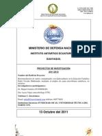 Perfil de proyecto Antártico 2012