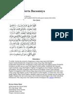 Doa Qunut Serta Bacaannya