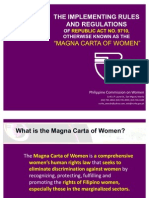 IRR Magna Carta of Women Presentation for Launch