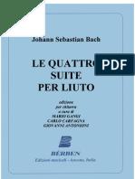4 Suites para Alaúde  - J.S. Bach