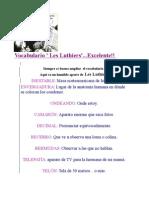 Vocabulario ' Les Luthiers'