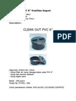 Clean Out PVC 6