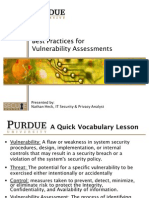 Vulnerability Assessment Best Practices