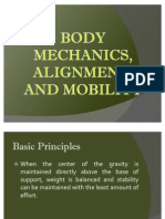 Body Mechanics, Alignment, And Mobility