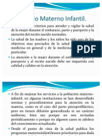 Cuidado Materno Infantil