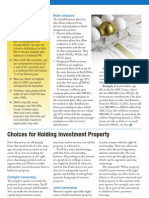 Choices for Holding Investment Property