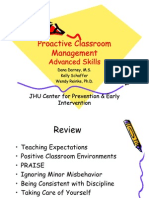 Proactive Classroom Management Advanced Skills
