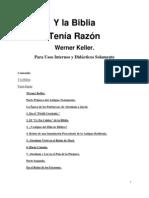 Y La Biblia Tenia Razon - Werner Keller