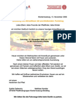 2008 Einladung Zum Adventfackelzug
