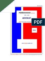 Latihan Soal PKPA Dan Pembahasan Ujian Advokat 2011