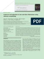 Control of Cell Migration in Two and Three Dimensions Using Substrate Morphology