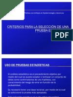 Criterios para la Selección de una Prueba Estadística