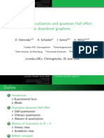 P. Ostrovsky et al- Anomalous localization and quantum Hall effect in disordered graphene
