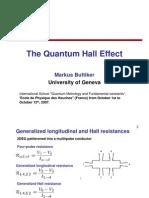 Markus Buttiker- The Quantum Hall Effect