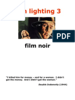 Presentation 2, Part 3 - Film Lighting, Film Noir