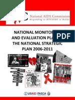 Belize Hiv-Aids m&e Plan