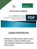 Sociologia Criminal (Labor Preventiva