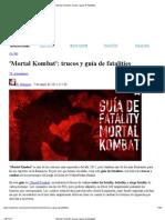 'Mortal Kombat'_ trucos y guía de fatalities