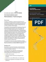 Contaminated Land Remediation Technology
