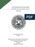 Thesis; Perubahan Konstruksi Identitas Swiss Terkait Dengan Keikutsertaan Dalam Schengen Treaty Tahun 2005