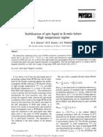 K.A. Kikoin, M.N, Kiselev and A.N. Mishchenko- Stabilization of spin liquid in Kondo lattice