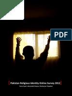 Pakistan Online Religious Identity Survey 2012