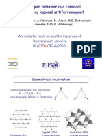 B. Fåk et al- Spin-liquid behavior in a classical Heisenberg kagomé antiferromagnet