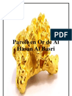 Paroles en Or d'Al Hassan Al Basri