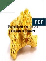 Paroles en Or d'Al Hassan Al Basri