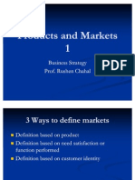 Products and Markets 1