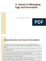 Strategic Issues in Managing Technology & Innovation