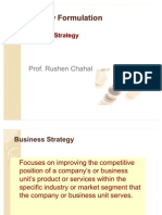 Strategy Formulation Business Strategy