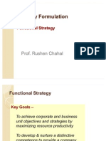 Strategy Formulation Functional Strategy