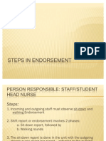Steps in Endorsement