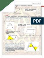 Consecuencias de la Congruencia de Triángulos