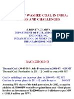 Usage of Washed Coal-GCV vs UHV