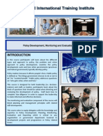 Course Outline -Policy Development, Monitoring and Evaluation - Cape Town - 2012 - March