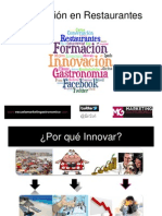 Charla Innovación en Restaurantes por Erika Silva