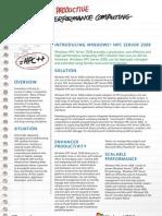 Windows HPC Server 2008_Overview_Datasheet