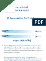 IB Presentation for Thai Parents - Thai Version on 16 Feb 12