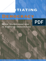 Negotiating Democracy Media Transformations in Emerging Democracies Suny Series in Global Media Studies