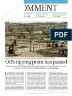 Oil's tipping point has passed