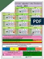 Kalendár vývozu odpadu v obci Terchová na rok 2013