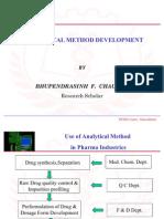 Analytical Method Develop