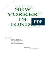 New Yorker in Tondo