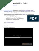 Guia Completo Para Instalar o Windows 7